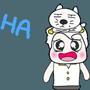 สติ๊กเกอร์ไลน์ >>Mr. Kajima and cat..<<