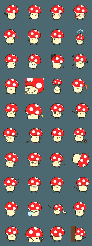 สติ๊กเกอร์ไลน์ red mushroom Sticker