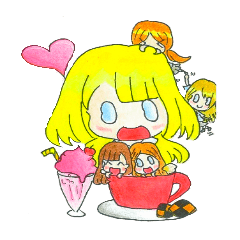 สติ๊กเกอร์ไลน์ Jellyfish and her friends