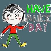 สติ๊กเกอร์ไลน์ Lisa, Have a nice day.(Animated/English)