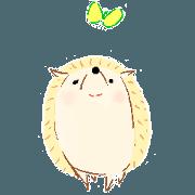 สติ๊กเกอร์ไลน์ Stamps of a hedgehog Haribo