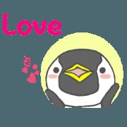 สติ๊กเกอร์ไลน์ Moving Penguin's English version