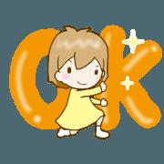 สติ๊กเกอร์ไลน์ It moves! Spiled Risu-chan