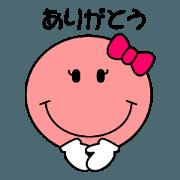 สติ๊กเกอร์ไลน์ Daily conversation Sticker niko3 girl 3