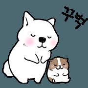 สติ๊กเกอร์ไลน์ Lovely dogs and a guinea pig(part2)