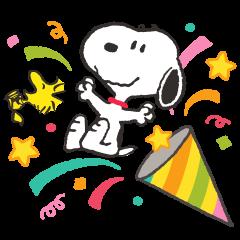Snoopy สติกเกอร์ป๊อปอัพ