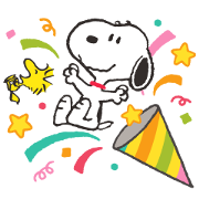 สติ๊กเกอร์ไลน์ Snoopy สติกเกอร์ป๊อปอัพ