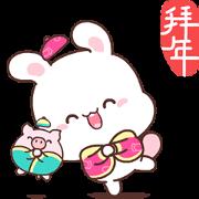 สติ๊กเกอร์ไลน์ Happy Bunny CNY Stickers