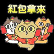 สติ๊กเกอร์ไลน์ Sinkcomic Cat's CNY Stickers