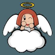 สติ๊กเกอร์ไลน์ Angel Girl Noe