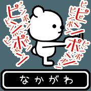สติ๊กเกอร์ไลน์ Nakagawa moves at high speed