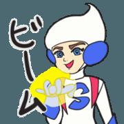 สติ๊กเกอร์ไลน์ Jusutice Boy Shin Animation Sticker