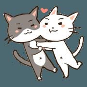 สติ๊กเกอร์ไลน์ Warm and Cute Cat for Everyday Use