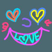 สติ๊กเกอร์ไลน์ Uni face emoji