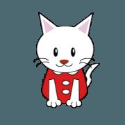 สติ๊กเกอร์ไลน์ Dressing cat