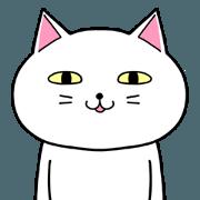 สติ๊กเกอร์ไลน์ WHITE CAT BILLY