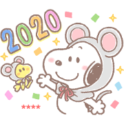 สติ๊กเกอร์ไลน์ Snoopy CNY Custom Stickers