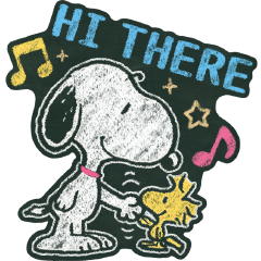 Snoopy ภาพวาดบนกระดานดำ