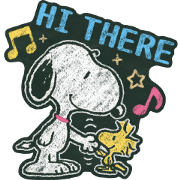 สติ๊กเกอร์ไลน์ Snoopy ภาพวาดบนกระดานดำ