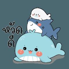 วาฬ & เดอะแก๊งค์แมวน้ำกับฉลาม