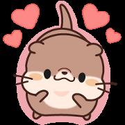 สติ๊กเกอร์ไลน์ Daily Stickers of Cute Otter: Animated