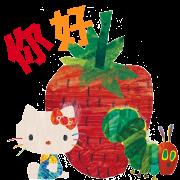 สติ๊กเกอร์ไลน์ Hello Kitty×The Very Hungry Caterpillar