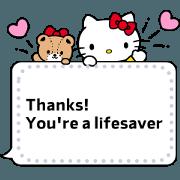 สติ๊กเกอร์ไลน์ Hello Kitty Message Stickers