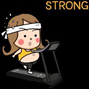 สติ๊กเกอร์ไลน์ Chubby Girl: On Diet
