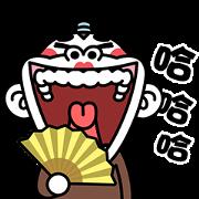 สติ๊กเกอร์ไลน์ Funny Monkey 4 Pop-Ups