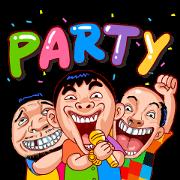 สติ๊กเกอร์ไลน์ Let's Party (สำราญแมน)