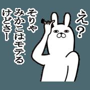 สติ๊กเกอร์ไลน์ Fun Sticker gift to mikako Funnyrabbit