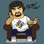 สติ๊กเกอร์ไลน์ rapper Kissme