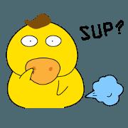 สติ๊กเกอร์ไลน์ Duh Duck-SUP