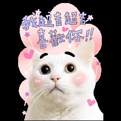 สติ๊กเกอร์ไลน์ Baiji B&W Big Sticker Heartfelt Stickers