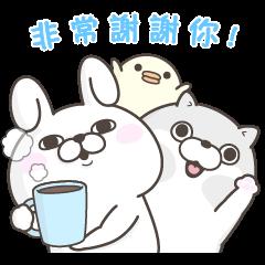 สติ๊กเกอร์ไลน์ YOSISTAMP Rabbit 100% and Friends