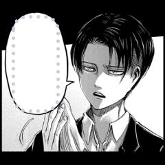 สติ๊กเกอร์ไลน์ Manga Stickers: Attack on Titan
