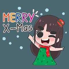 เด็กหญิงคิ้วหนา คริสต์มาสและปีใหม่