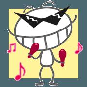 สติ๊กเกอร์ไลน์ 【artshop】แมลงสาบซุกซน (BG B02d)