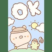 สติ๊กเกอร์ไลน์ Bread Tree ♪ Adorable Summer Stickers