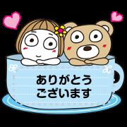 สติ๊กเกอร์ไลน์ Hanako Memo Stickers