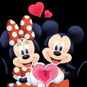 สติ๊กเกอร์ไลน์ Mickey and Friends Moving Backgrounds