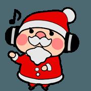 สติ๊กเกอร์ไลน์ Dancing Santa Claus !
