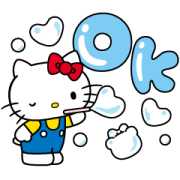 สติ๊กเกอร์ไลน์ Hello Kitty Moving Backgrounds