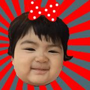 สติ๊กเกอร์ไลน์ Baby Chanya Cute Little Girl