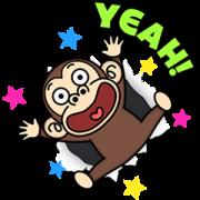 สติ๊กเกอร์ไลน์ Funny Monkey Moving Backgrounds