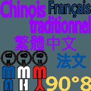 สติ๊กเกอร์ไลน์ 90°8 ฝรั่งเศส, จีนดั้งเดิม