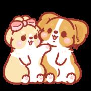 สติ๊กเกอร์ไลน์ Corgi KaKa: Sweet Couple Daily Vol. 2