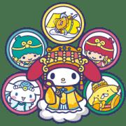 สติ๊กเกอร์ไลน์ Sanrio Characters dressed as lovely gods