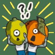 สติ๊กเกอร์ไลน์ Fruits Zombie