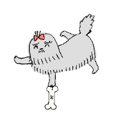 สติ๊กเกอร์ไลน์ DOG paradise sticker